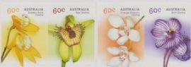 Aus SG4108-11 Australian Native Orchids self-adhesive set of 4 from booklet (exSB454/5)